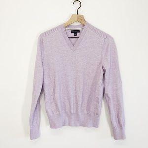 Banana Republic Cotton Cashmere V-Neck Sweater